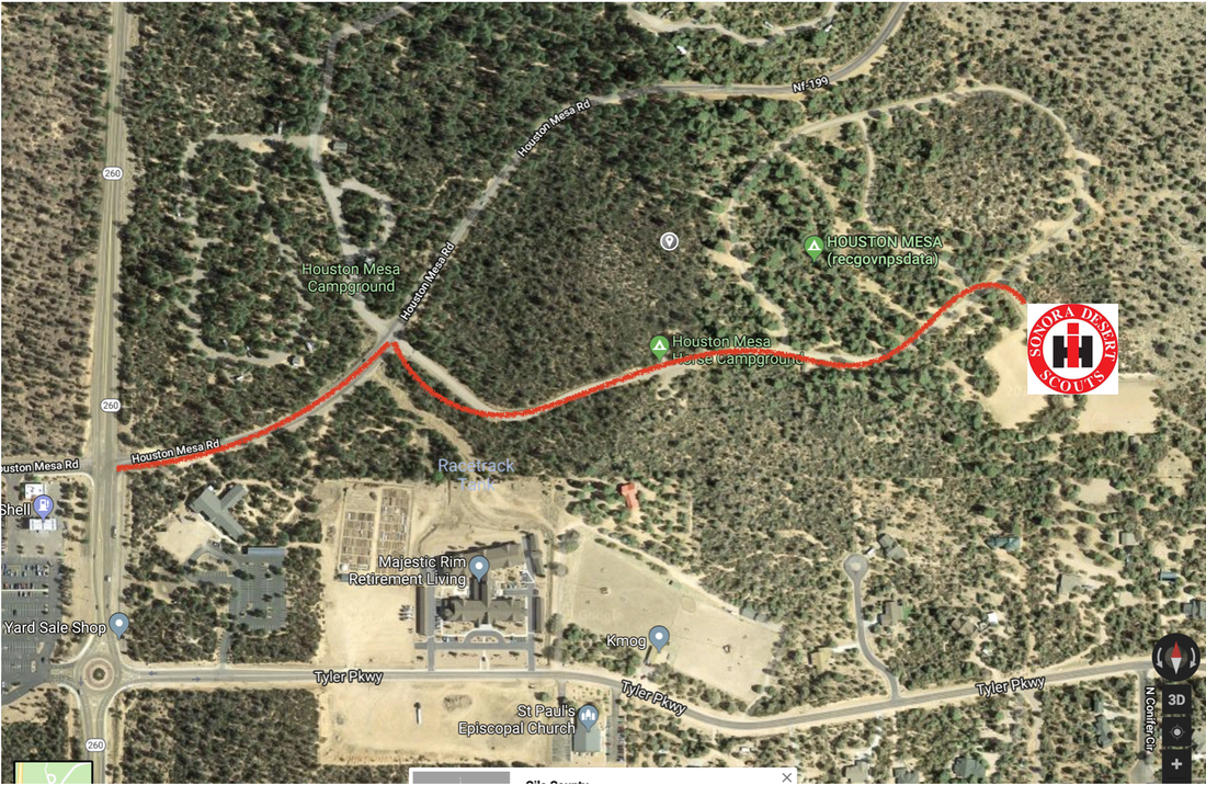 Map Of Highway 87 Arizona.Directions Sonora Desert Scouts